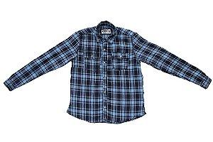 Camisa masculina juvenil flanela xadrez 10 ao 16 clube do doce