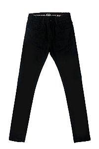 Calça masculina juvenil jeans black 10 ao 16 clube do doce