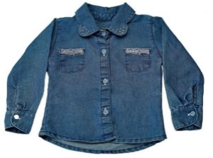 Camisa feminina bebê jeans clear p ao g clube do doce