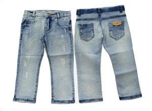 Calça masculina infantil jeans slim cevada 1 ao 3 clube do doce