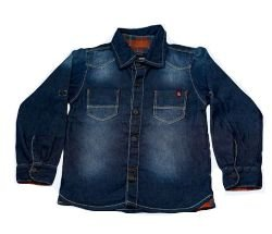 Camisa masculina infantil jeans paraty 1 ao 3 clube do doce