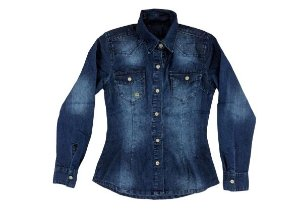 Camisa feminina jeans infantil 10 ao 16 clube do doce