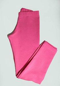 Calça Legging Rosa Flanelada