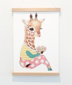 Pôster A3, Guusje a girafa