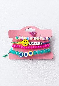Conjunto de Pulseiras Smile Reguláveis