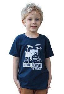 Camiseta Rock Roll Azul Marinho