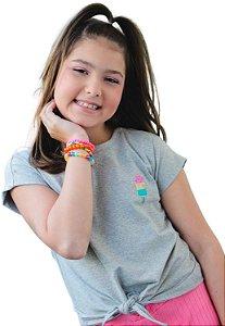 Camiseta Amarrar Mescla Picolé