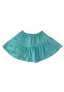 Shorts Saia Azul Turquesa