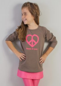 blusa raglan peace&love