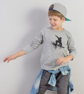Camiseta Raglan Snowboard