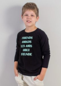blusa raglan friends