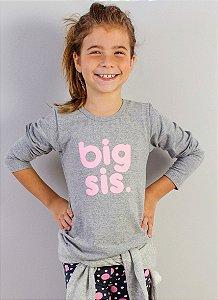 blusa manga longa big sister