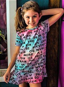 Vestido Letras Tie Dye