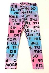 Calça Legging Tie Dye Letras