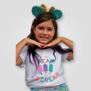 Camiseta Infantil Picolé Branca