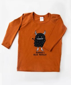 Camiseta Manga Longa Mommys Little Monster