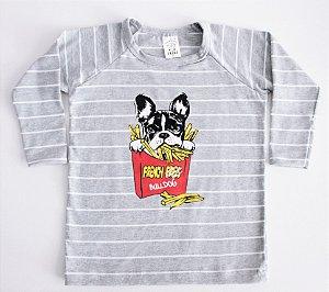Camiseta Manga Longa Buldogue Unissex