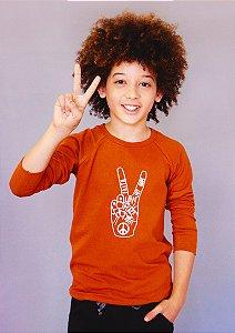 Camiseta Manga Longa Love Peace - Unissex