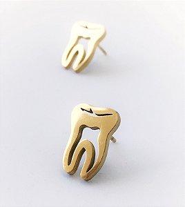 Brinco em Formato de Dente - Dourado