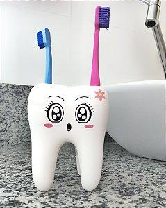 Porta Escova de Dente em Formato de Dente Menininha