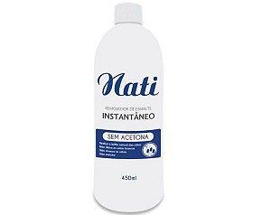 Removedor de Esmalte Instantâneo Sem Acetona Nati - 450ml