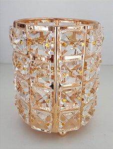 Porta Luxo Rose Gold Redondo