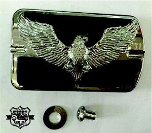 Pedaleira - VKNI00534 - modelo Silver Eagle - preta/cromada - para Softail e Touring - VRodKings
