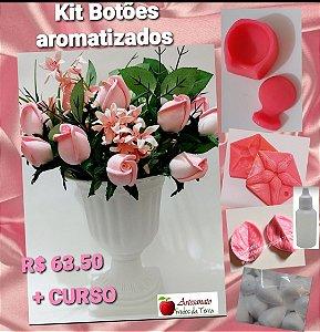 Kit frisadores botões de rosas