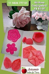 Kit frisadores Flores Rosa Conjugada G
