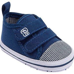 Tênis Bebê Velcro Azul Jeans