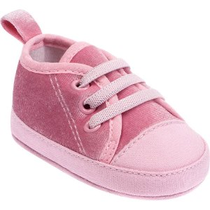 Tênis Bebê Veludo Rosa