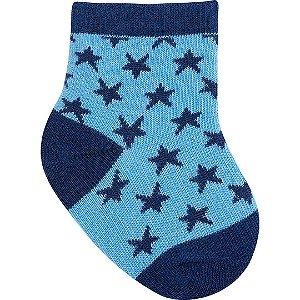 Meia Estrelas Azul Marinho 0 a 15 meses