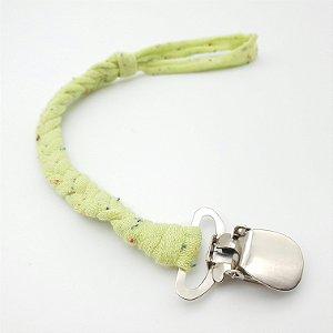 Prendedor de Chupeta Trançado de Algodão Paint Verde