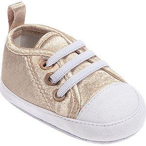 Tênis Bebê Dourado