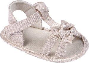Sandália Laço Dourada