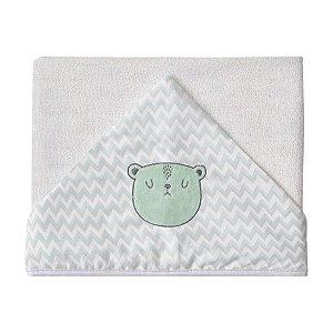 Toalhão de Banho Ursos com forro de Fralda