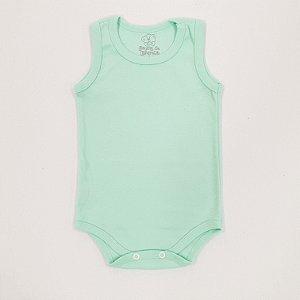 Body Regata Básico Verde Bebê