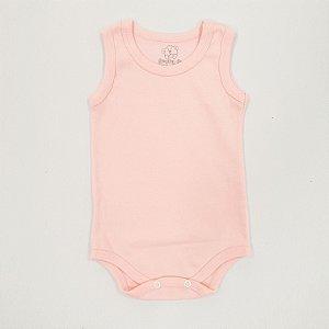 Body Regata Básico Rosa Bebê