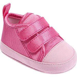 Tênis Bebê Velcro Rosa
