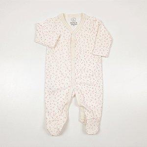 Macacão Pijama Flores Off White
