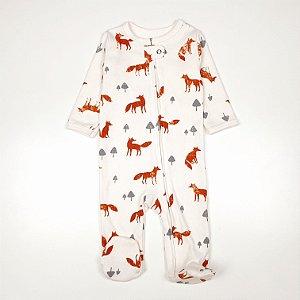 Macacão Pijama de Zíper Raposa
