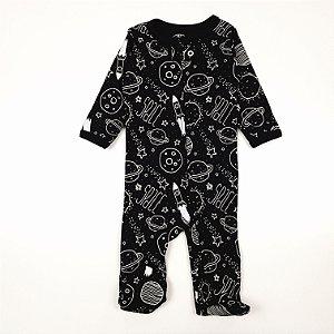 Macacão Pijama de Zíper Space