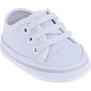 Tênis Bebê Branco com Listra Mescla