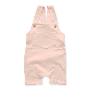 Jardineira Curta Rosa Bebê