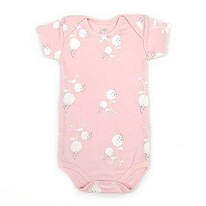 Body Flor de Algodão Rosa Bebê