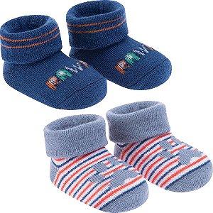 Kit com 2 pares de meias RN Patinha