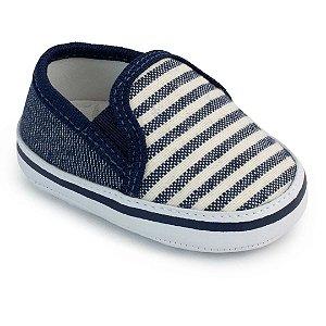 Slip Bebê Listrado Azul Marinho