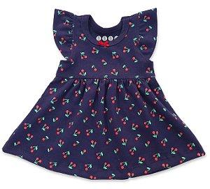 Vestido Cerejinha Azul Marinho