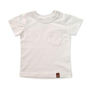 Camiseta Bolsinho Branco