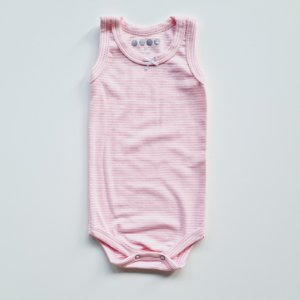 Regata Listrada Rosa Bebê *Modelagem Grande*